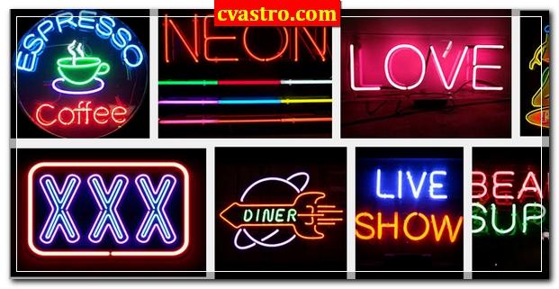 Neon sign Reklame